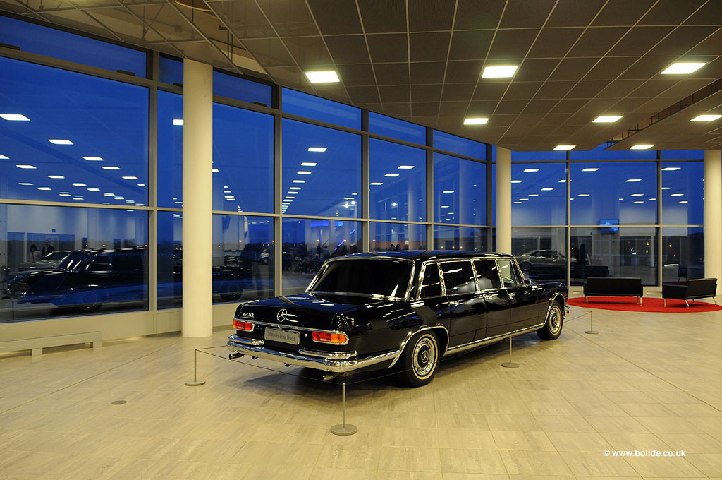 Mercedes 600 Pullman at Mercedes-Benz World in Weybridge
