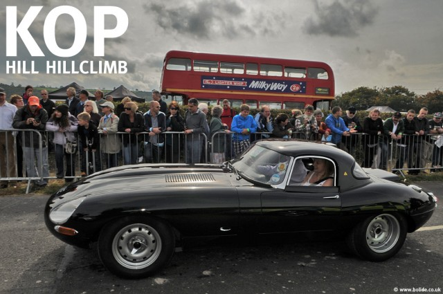 E-Type Jaguar at the startline at Kop Hill