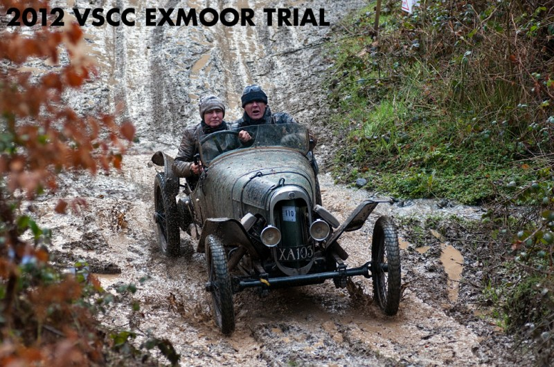 Louise Bunting on her way to a 1st Class award in the VSCC Exmoor Fringe Trial