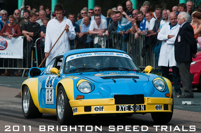 Alpine A110 leaves the startline at the 2011 Brighton Speed Trials