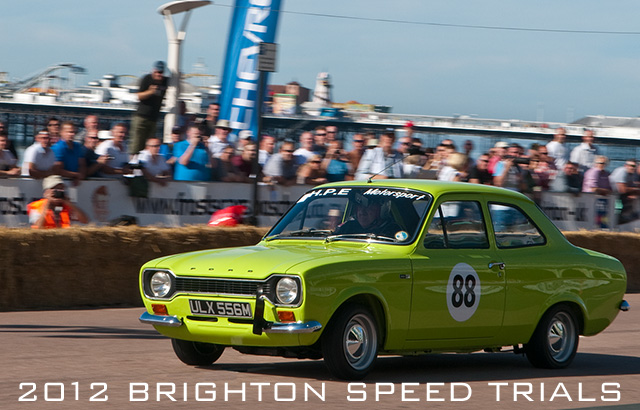 Escort Mk I launches at the 2012 Brighton Speed Trials