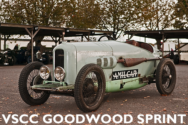 Amilcar in the paddock at Goodwood